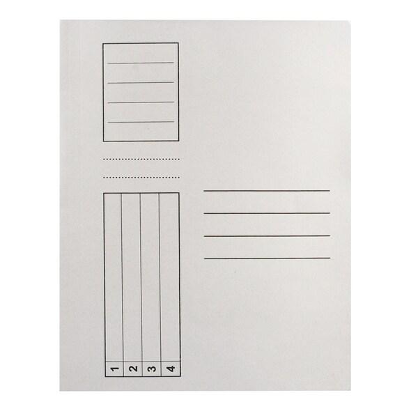 Dosar simplu RTC, A4, carton, 25 bucati, alb