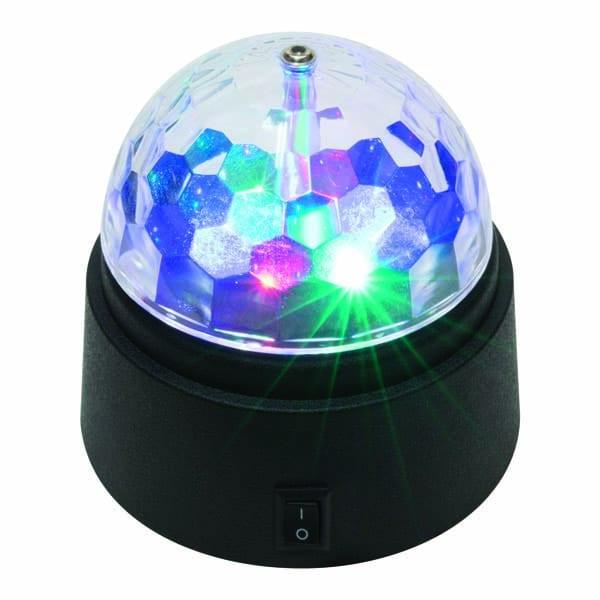Lampa disco cu LED HOME DL 80L, 6W, 3 x AA, multicolor