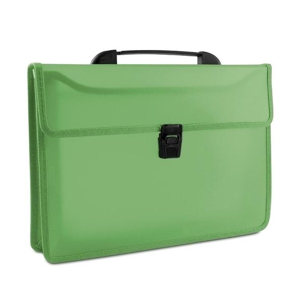 Servieta documente DONAU, plastic, 2 compartimente, verde