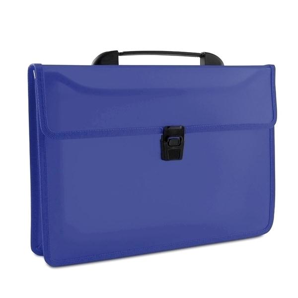 Servieta documente cu clema DONAU, plastic, albastru