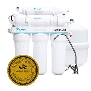 "Sistem filtrare cu osmoza inversa ECOSOFT 5-50 fara mineralizator, 0.13 l/min, 6 bar, 1/2"", robinet + rezervor"