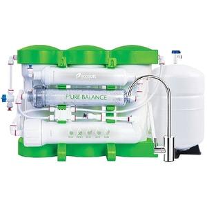 """Sistem filtrare cu osmoza inversa ECOSOFT P'Ure Balance, 0.2 l/min, 6 bar, 1/2"""", robinet + rezervor"""
