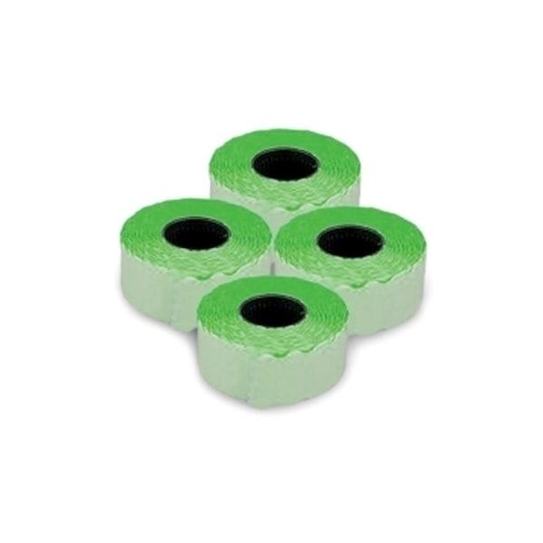 Etichete autoadezive pentru marcatoare ROMPRIX, 26 x 16 mm, 1000 bucati/rola, verde fluorescent