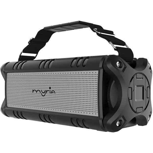 Boxa portabila MYRIA MY9079BK, Bluetooth, MicroSD, Waterproof, True Wireless, negru