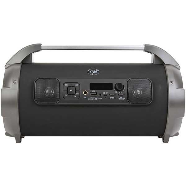 Boxa portabila PNI Boombox BT240, Bluetooth, USB, MicroSD, Radio FM, Karaoke, negru