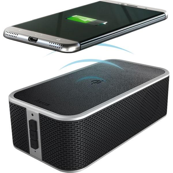 Boxa portabila HAMA 173160, Bluetooth, Powerbank, Incarcare Wireless QI, negru