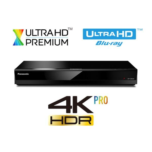 Blu-Ray player Smart PANASONIC DP-UB420EGK, 4K HDR, Wi-Fi, USB, negru