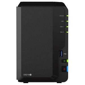Network Attached Storage SYNOLOGY DS218+, 2.5GHz, 2GB, 2-Bays, negru