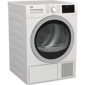 Uscator de rufe BEKO DS 8439 TX, Pompa de caldura, 8 kg, 16 programe, Clasa A++, alb