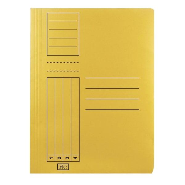 Dosar cu sina RTC Super, A4, carton, 10 bucati, galben