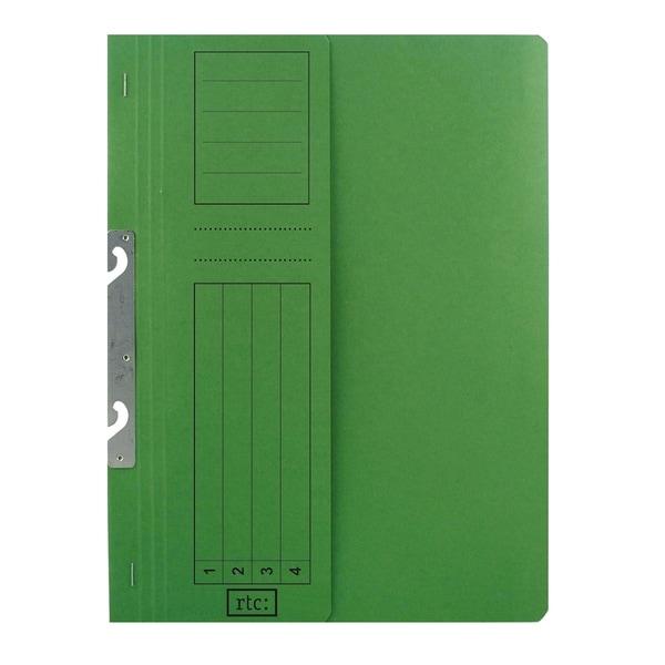 Dosar incopciat RTC Super, 1/2, A4, carton, 10 bucati, verde