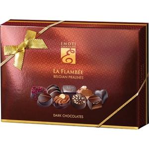 Bomboane ciocolata EMOTI CHOCOLATE La Flambee, (Dark Chocolates), 120g