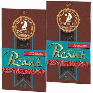 Ciocolata cu piper rosu SHOUDE Picant, 100g, 2 bucati
