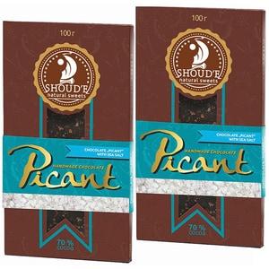 Ciocolata cu sare SHOUDE Picant, 100g, 2 bucati