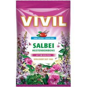 Drajeuri VIVIL salvie cu vitamina C fara zahar, 80g, 6 bucati
