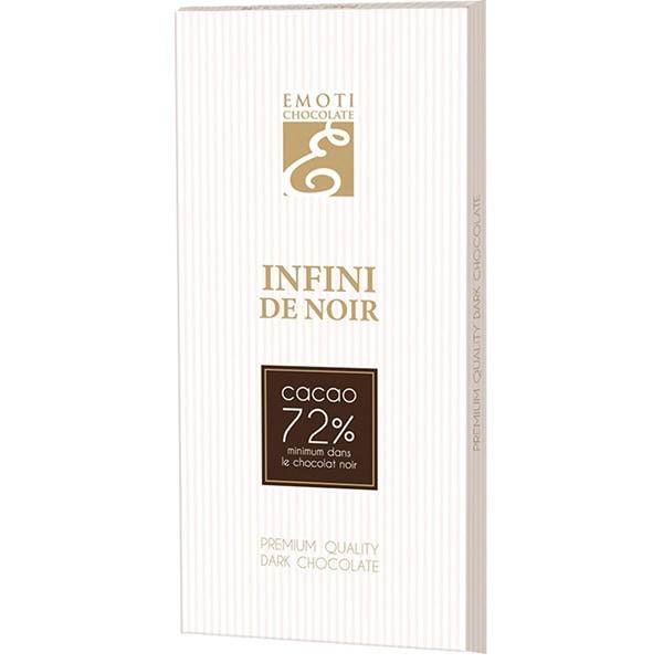 Ciocolata EMOTI CHOCOLATE Infini De Noir 72%, 100g
