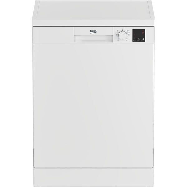Masina de spalat vase independenta BEKO DVN06430W, 14 seturi, 5 programe, 60 cm, Clasa D, alb