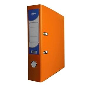 Biblioraft plastifiat/cartonat NOKI, A4, 75 mm, portocaliu