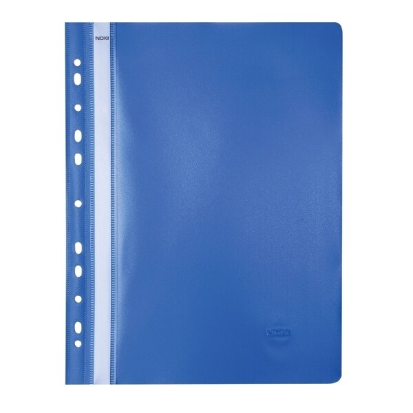 Dosar NOKI, A4, plastic, 25 bucati, albastru