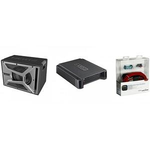 Pachet Subwoofer auto HERTZ EBX 250.5 + Amplificator HCP1D + kit cabluri FPK 700