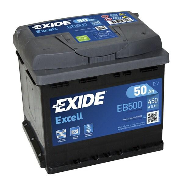Baterie auto EXIDE Excell, 12V, 50Ah, 450A