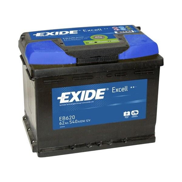 Baterie auto EXIDE Excell, 12V, 62Ah, 540A