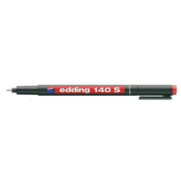 Marker permanent EDDING OHP 140S, 0.3 mm, rosu