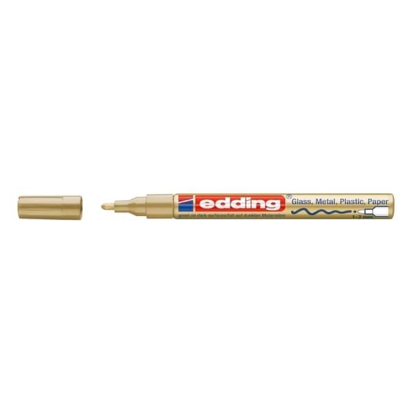 Marker permanentcu vopsea EDDING 751, corp metalic, 1-2 mm, auriu