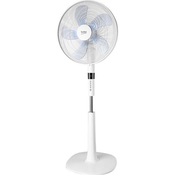 Ventilator cu picior BEKO EFS7700W, 26 trepte de viteza, 40 cm, 60 W, alb
