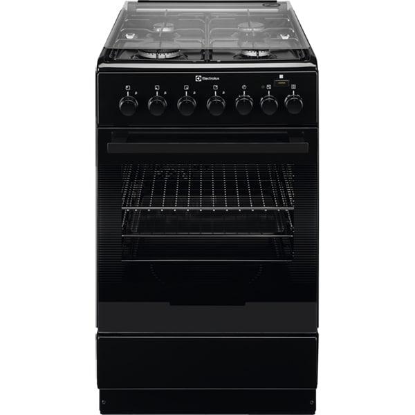 Aragaz ELECTROLUX EKK52950OK, 4 arzatoare, Mixt, L 50 cm, Grill, negru