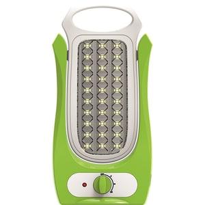 Lanterna LED reincarcabila de camping TOTAL GREEN EL0027731, 60 LED-uri, alb-verde