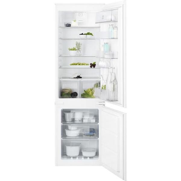 Combina frigorifica incorporabila ELECTROLUX ENT6TE18S, TwinTech No Frost, 254 l, H 177.2 cm, Clasa E, alb