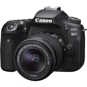 Aparat foto DSLR CANON EOS 90D, 32.5 MP, Wi-Fi, negru + Obiectiv 18-55mm IS STM