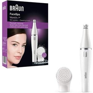 Epilator facial BRAUN SE810, baterii, alb