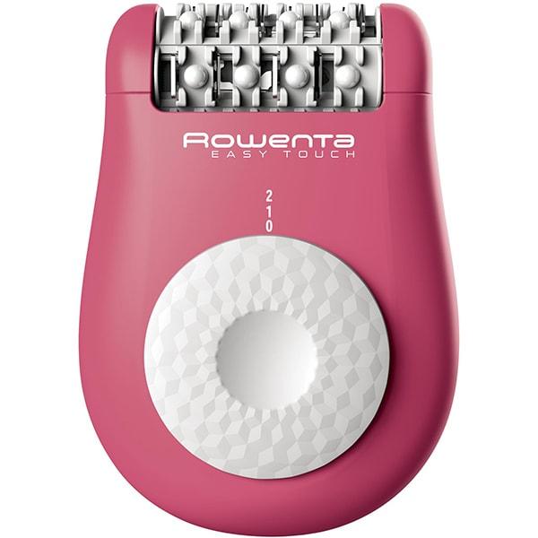 Epilator ROWENTA Easy Touch EP1110F0, 24 penseta, 2 viteze, 1 accesoriu, retea, roz