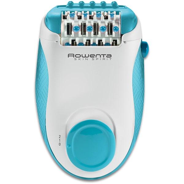 Epilator ROWENTA Skin Spirit EP2910F0, 24 pensete, 2 viteze, 3 accesorii, retea, alb-albastru