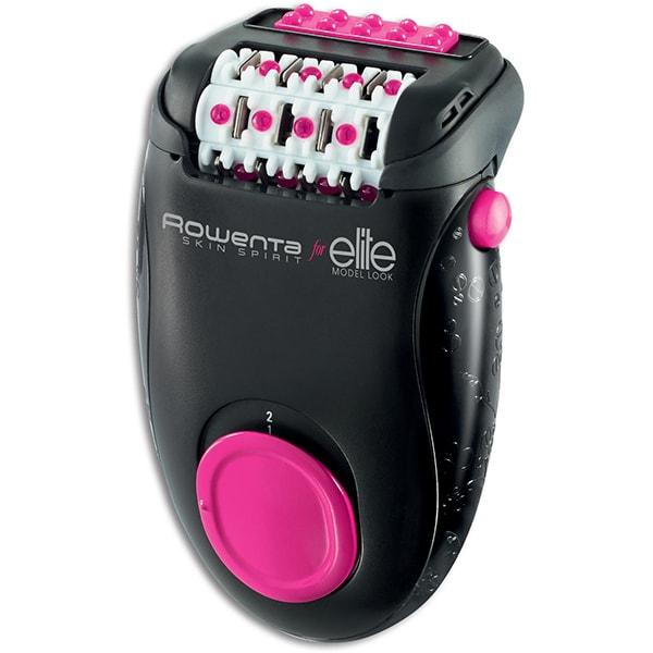 Epilator ROWENTA Skin Spirit Elite EP2902F0, 24 pensete, 2 viteze, retea, negru-roz