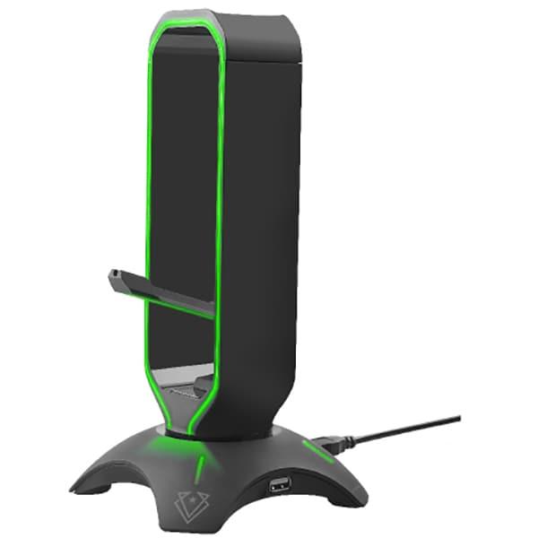 Stand Gaming 3-1 VERTUX Extent, suport casti, hub USB, negru