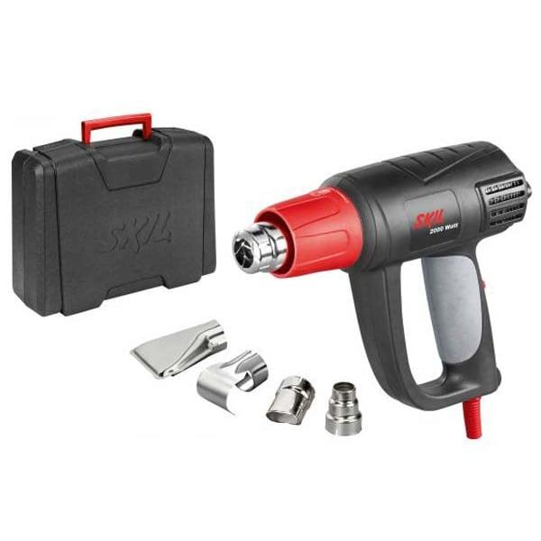 Pistol cu aer cald SKIL F0158004AA, 2000W, 250-500 l/min, 50-650 C, 4 duze + cutie plastic