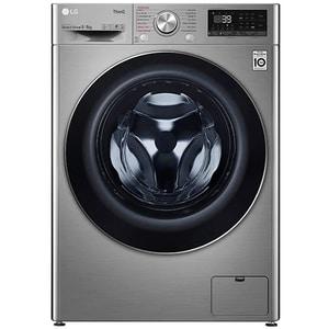Masina de spalat rufe frontala cu uscator LG F4DV709S2TE, Steam+, Wi-Fi, 9/6 kg, 1400rpm, Clasa A, argintiu