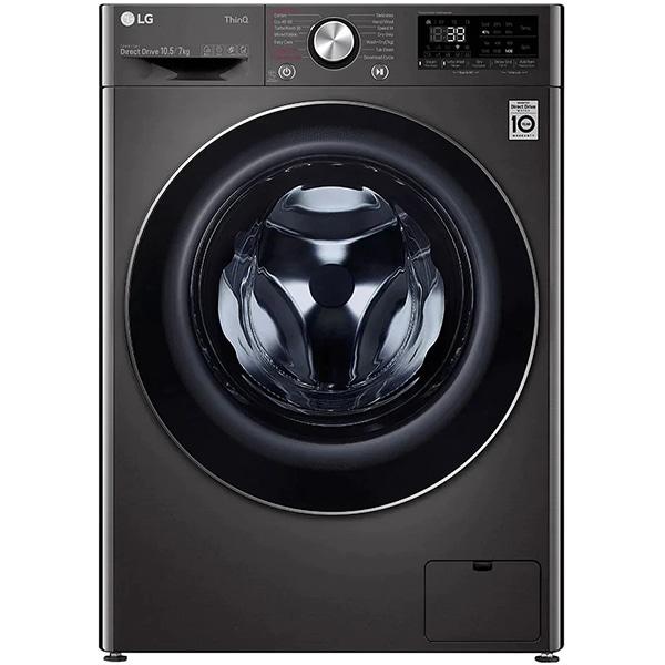 Masina de spalat rufe frontala cu uscator LG F4DV710S2SE, Steam+, Wi-Fi, 10.5/7kg, 1400rpm, Clasa E, negru
