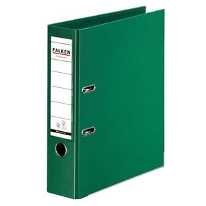 Biblioraft plastifiat FALKEN Chromcolor, A4, 80 mm, verde