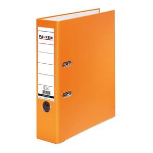 Biblioraft plastifiat/cartonat FALKEN, A4, 50 mm, portocaliu