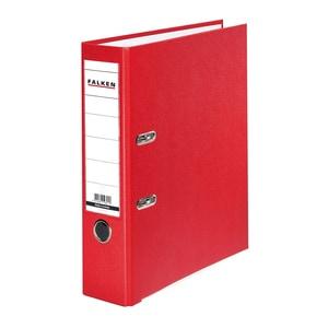 Biblioraft plastifiat/cartonat FALKEN, A4, 80 mm, rosu