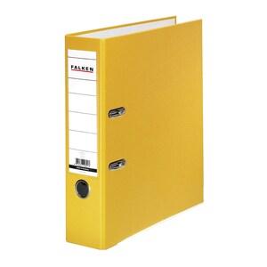 Biblioraft plastifiat/cartonat FALKEN, A4, 80 mm, galben