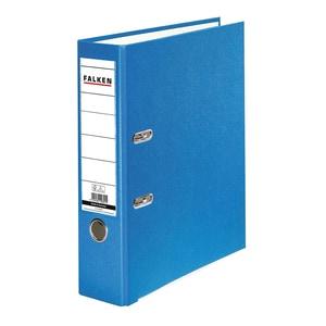 Biblioraft plastifiat/cartonat FALKEN, A4, 80 mm, albastru