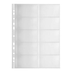 File de protectie pentru carti de vizita Falken, 120 microni, 10 bucati