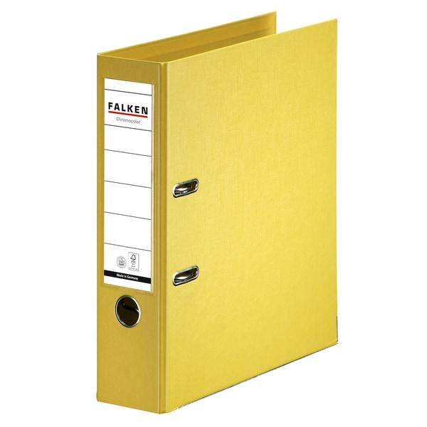 Biblioraft plastifiat FALKEN Chromcolor, A4, 80 mm, galben