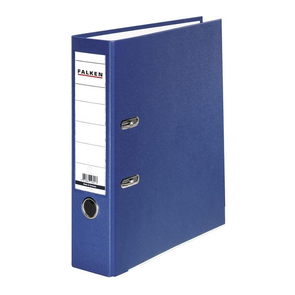 Biblioraft plastifiat/cartonat FALKEN, A4, 50 mm, albastru