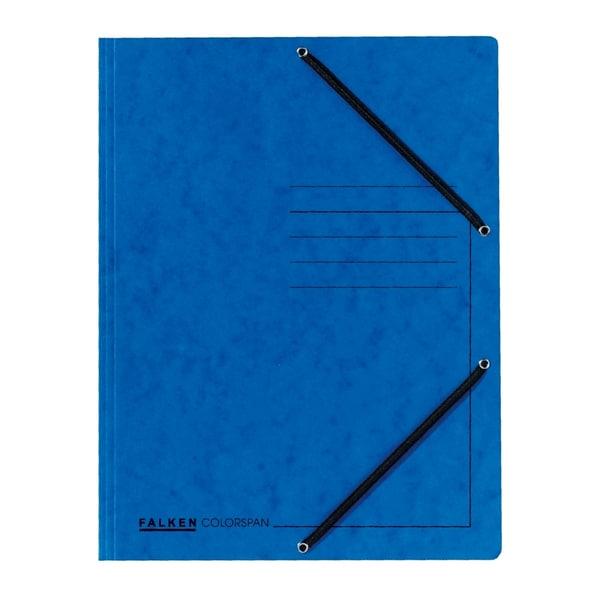 Dosar plic cu elastic FALKEN, A4, carton, albastru